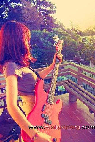 Guitargirl ,wide,wallpapers,images,pictute,photos