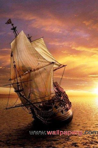 Ocean sailing ship ,wide,wallpapers,images,pictute,photos