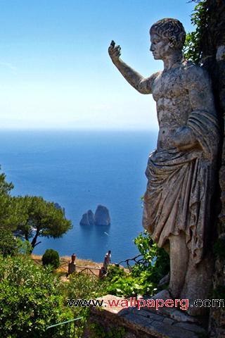 Overlooking statue