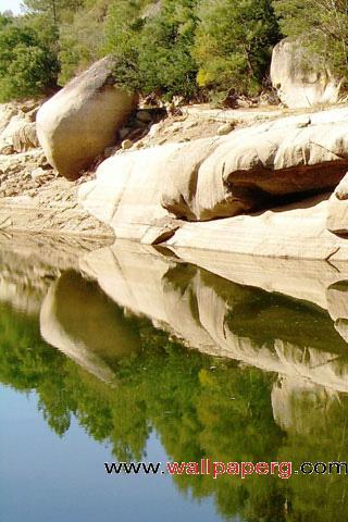 Reflective rocks ,wide,wallpapers,images,pictute,photos