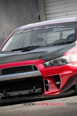 Red mitsubishi lancer ,wide,wallpapers,images,pictute,photos
