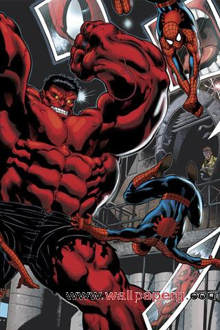 Red hulk x spiderman ,wide,wallpapers,images,pictute,photos