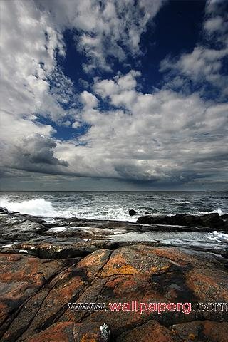 Rocky shore ,wide,wallpapers,images,pictute,photos