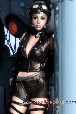 3d female pilot ,wide,wallpapers,images,pictute,photos