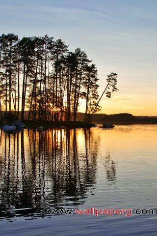 Sweden midnight sun ,wide,wallpapers,images,pictute,photos