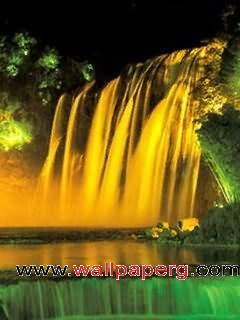 Beautiful waterfall scene