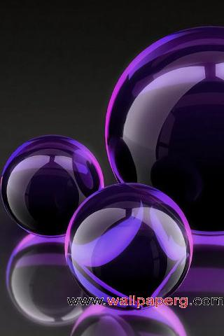 Purple crystal balls