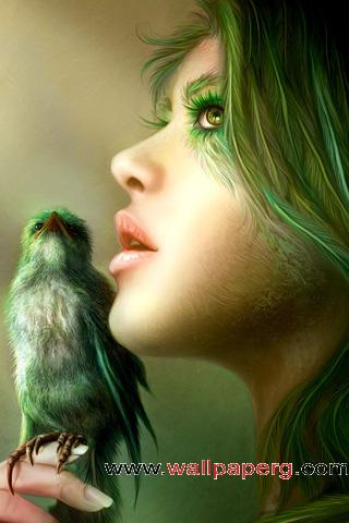 Green bird ,wide,wallpapers,images,pictute,photos