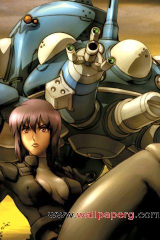 Motoko with tachikoma