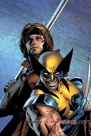 X men gambit & wolverine ,wide,wallpapers,images,pictute,photos