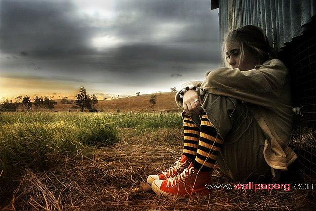 Sad girl ,wide,wallpapers,images,pictute,photos