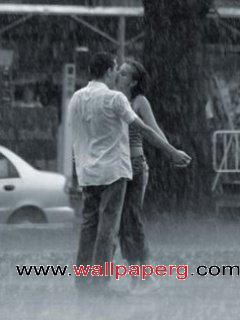 Kiss in the rain ,wide,wallpapers,images,pictute,photos