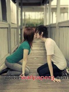 Emo kiss for name of love
