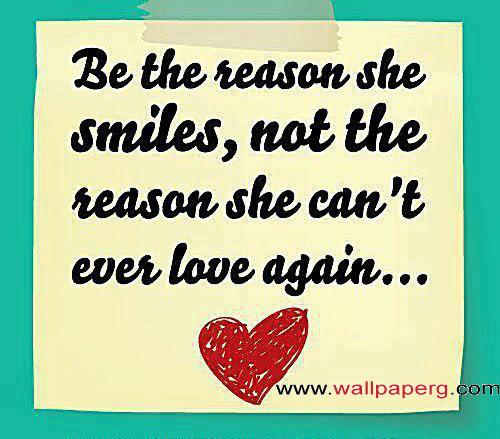 Be the reason for her smi