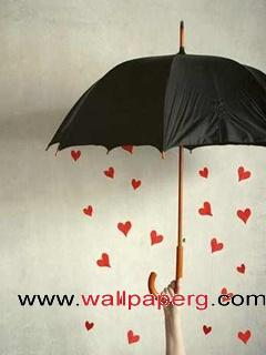 Heart rain ,wide,wallpapers,images,pictute,photos