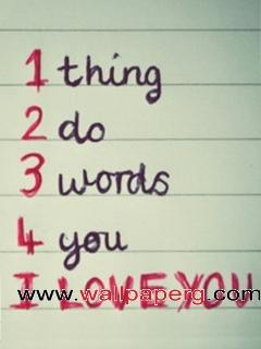 3 words to say