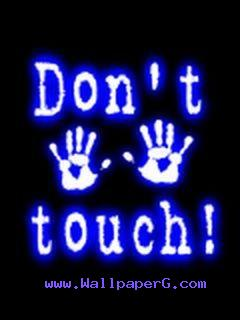 Do not touch man
