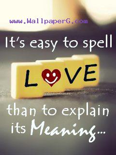 Meaning of love easy to s