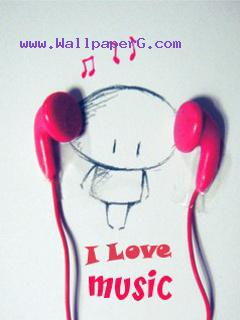 Music headphone cartoon