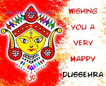 Happy dussehra greetings cards
