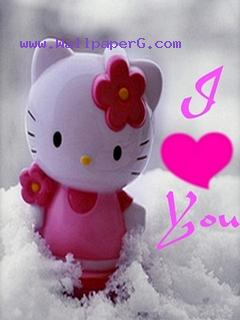 Pink kitty love