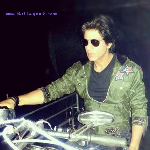 Shahrukh khan with his bike