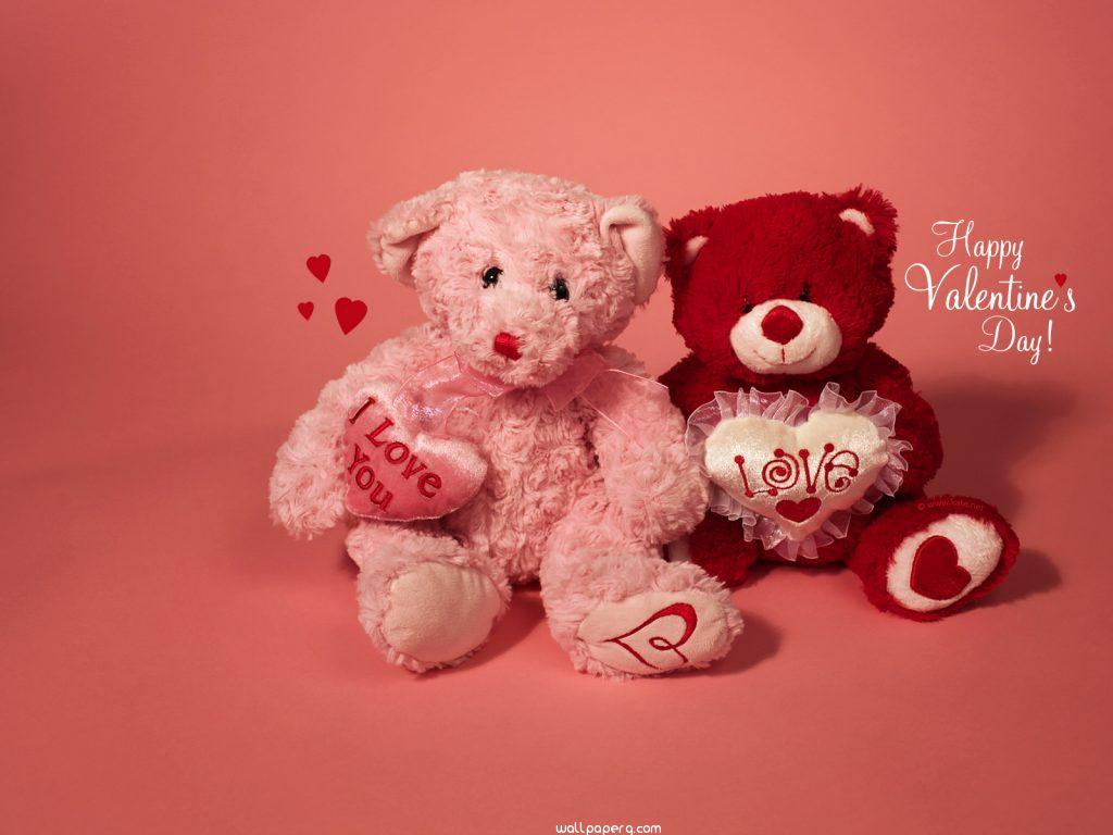 download valentines day teddy bear wallpapers - romantic wallpapers