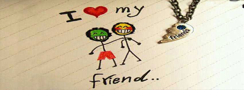 My Mobile Wallpapers For Facebook: Download I Love My Friend Fb Cover