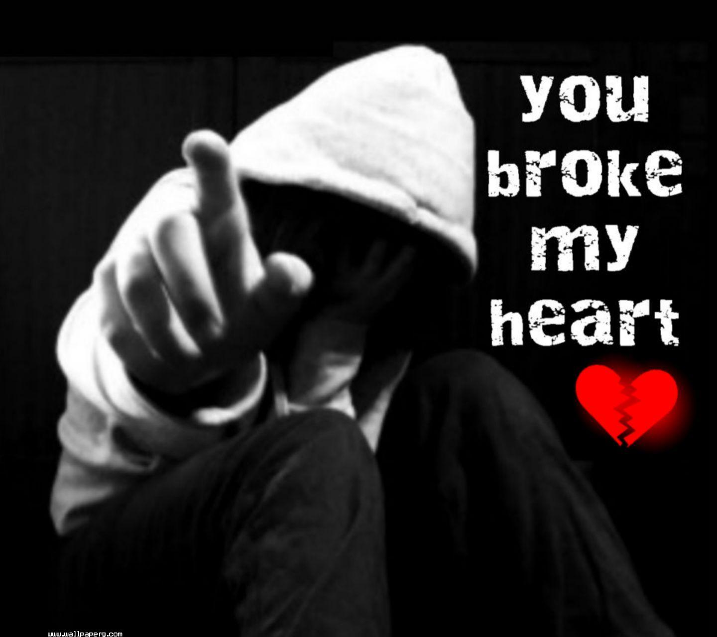 Download broken heart 3 hurt wallpapers for your mobile - Sad heart wallpapers love ...
