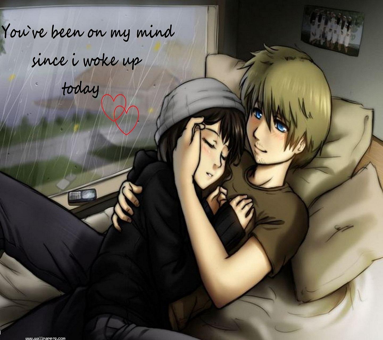 Cute Couple Hug Romantic Love Quote