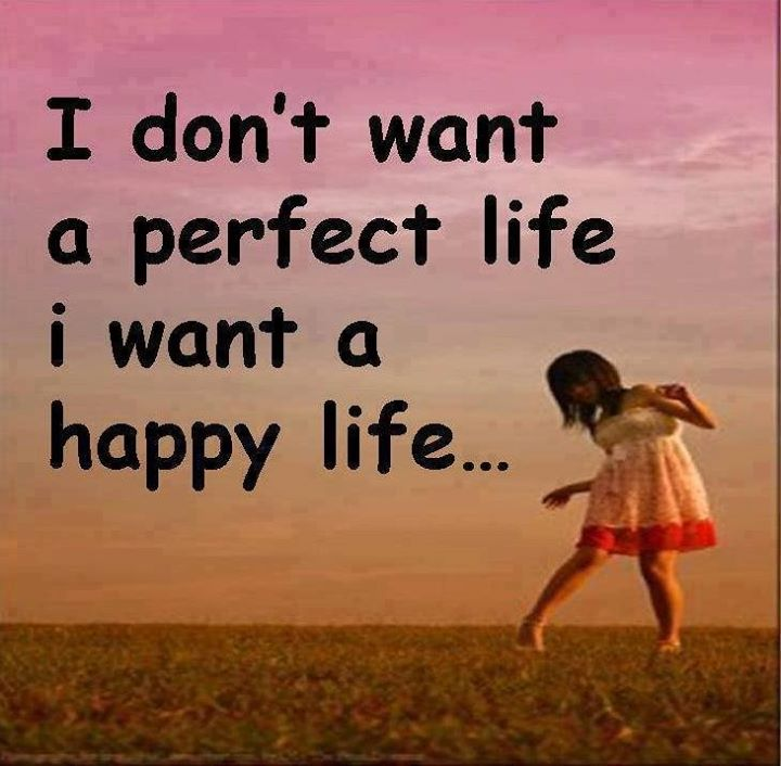 Download I Want A Happy Life Quote Wallpaper For Mobile Cell Phone