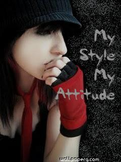 Download Girl Quote My Style My Attitude Attitude Girl Profile Pic For Your Mobile Cell Phone
