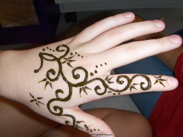 Download Simple Mehndi Designs Wallpaper For Mobile Cell Phone