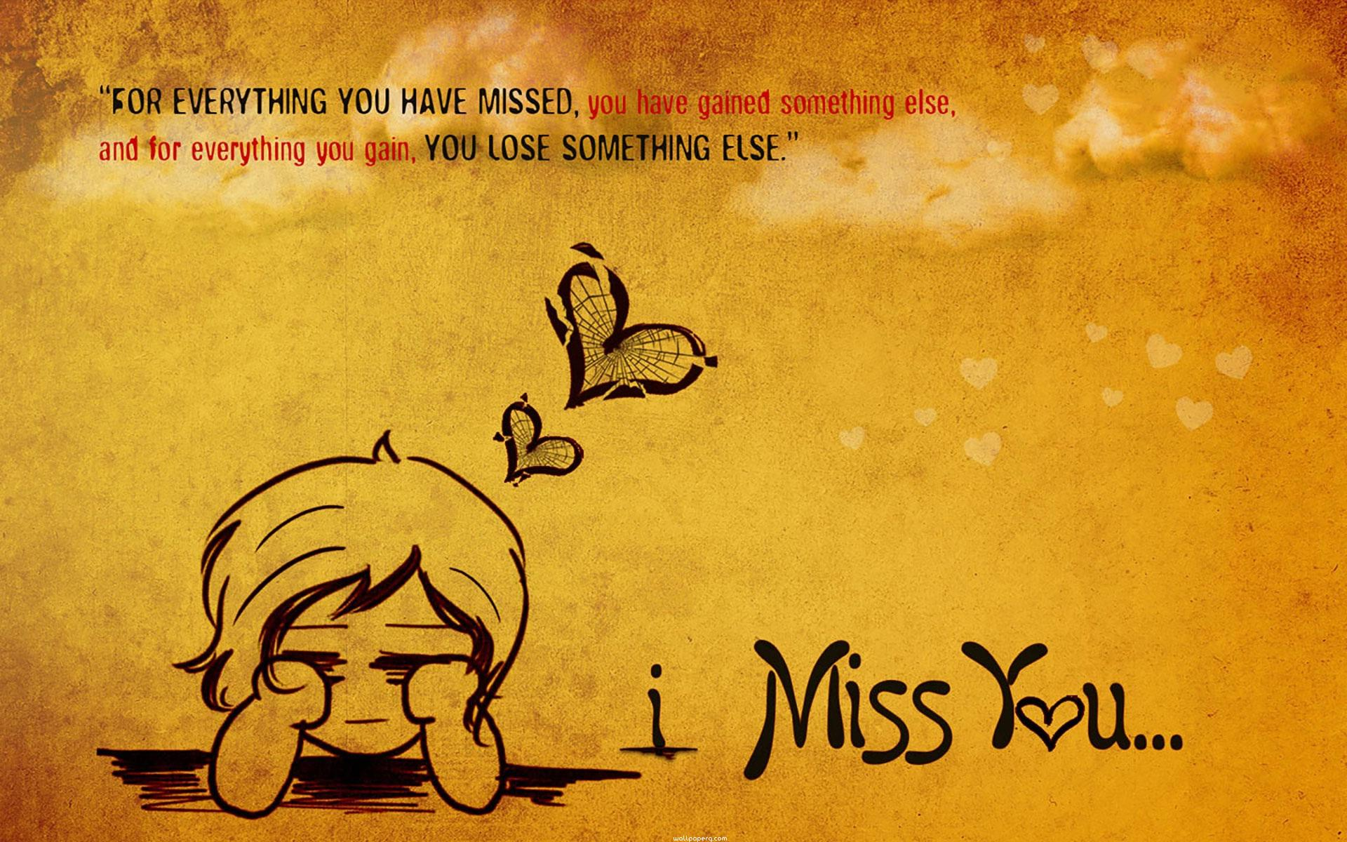 Download Hearttouching Miss You Quote Miss You Hd Wallpapers For