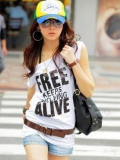 Download Stylish girl with attitude quote shirt wallpaper