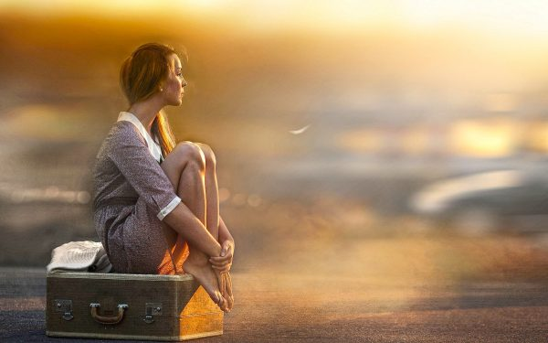 Download Girl waiting for someone special hd wallpaper ...  Download Girl w...