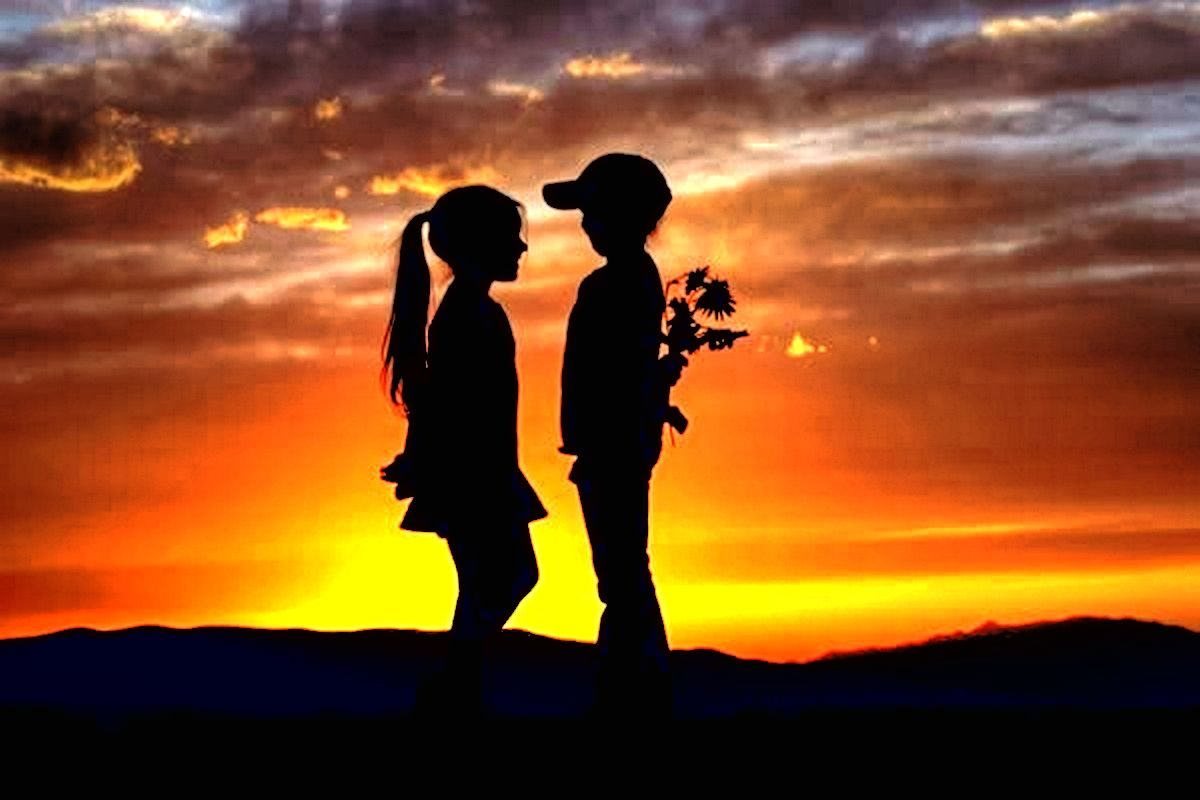 Download Innocent Love Of Girl And Boy Hd Wallpaper Wallpaper For Mobile Cell Phone