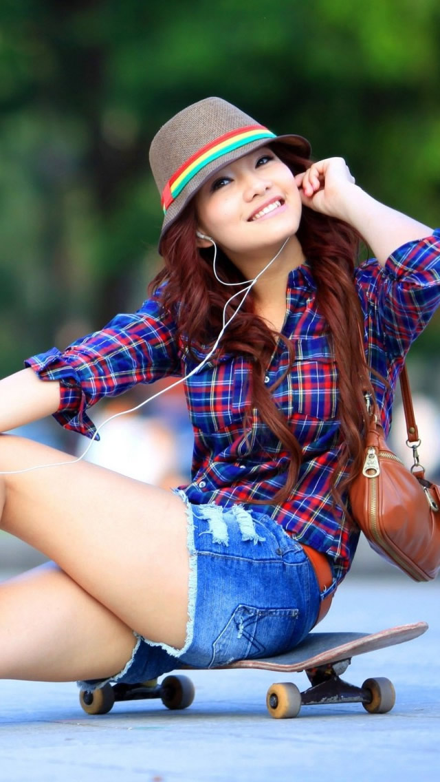 Download Asian smile girl iphone wallpaper , Girls with