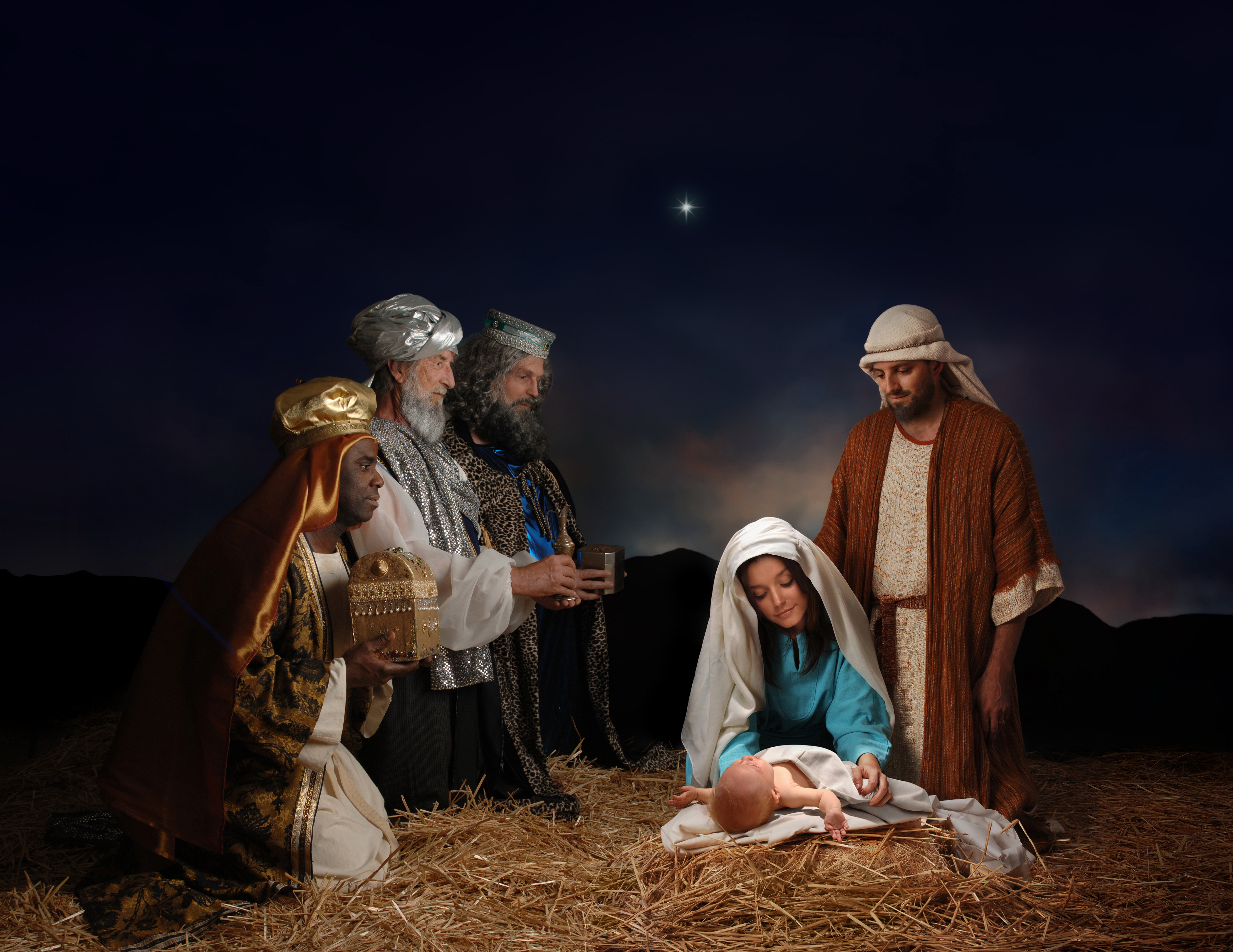 Download Birth Of Jesus Hd Wallpaper For Laptop Mobile Christmas