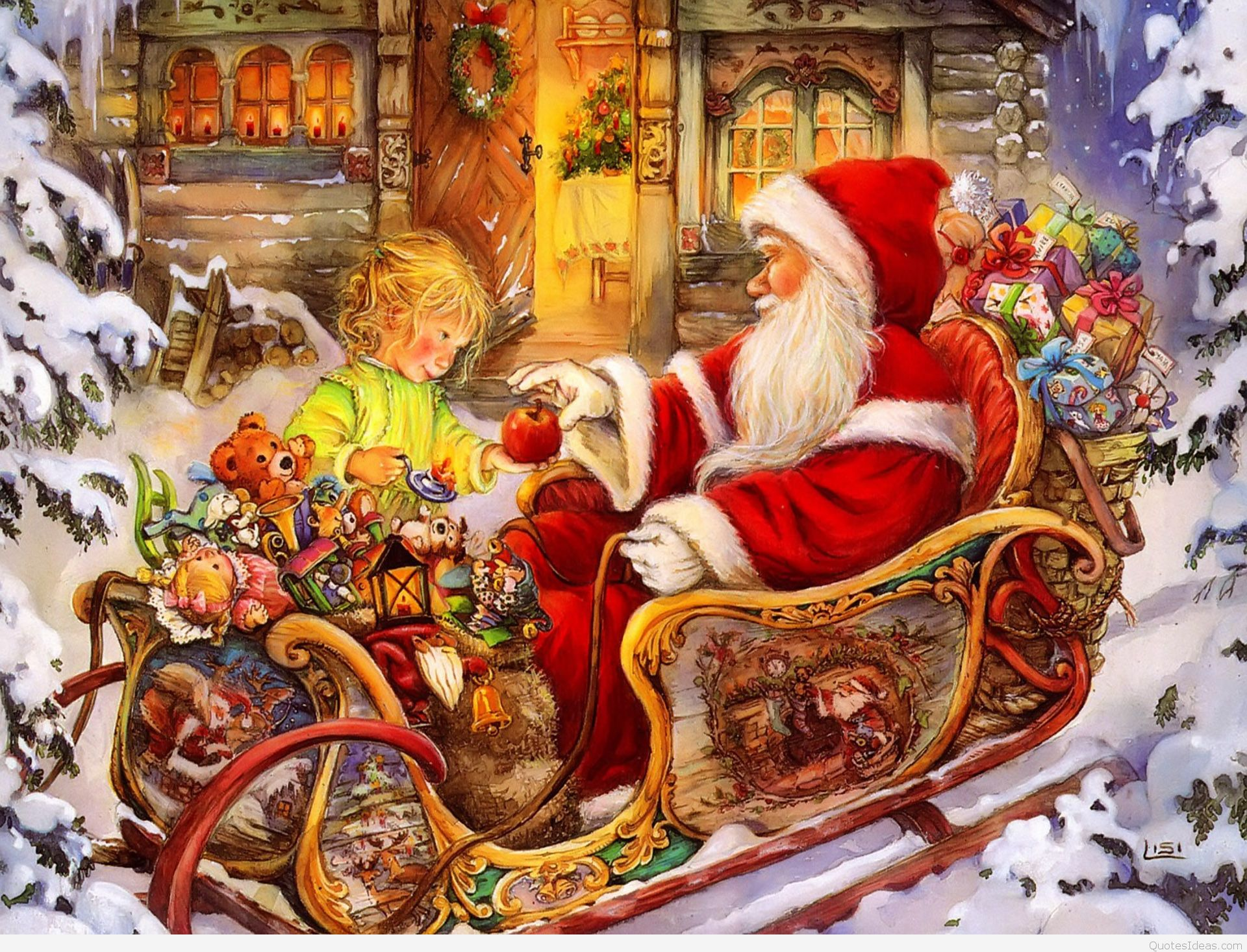 Download Santa Claus Hd Wallpaper For Laptop Mobile Christmas Day
