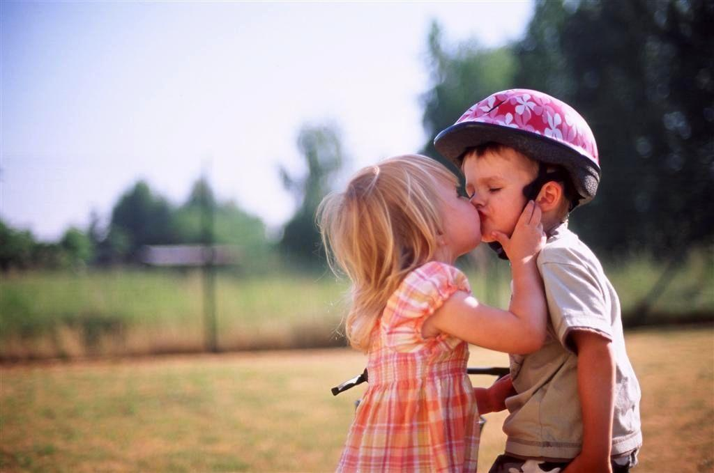 Download Cute Baby Kiss Love Hd Wallpaper Innocent Love For Your