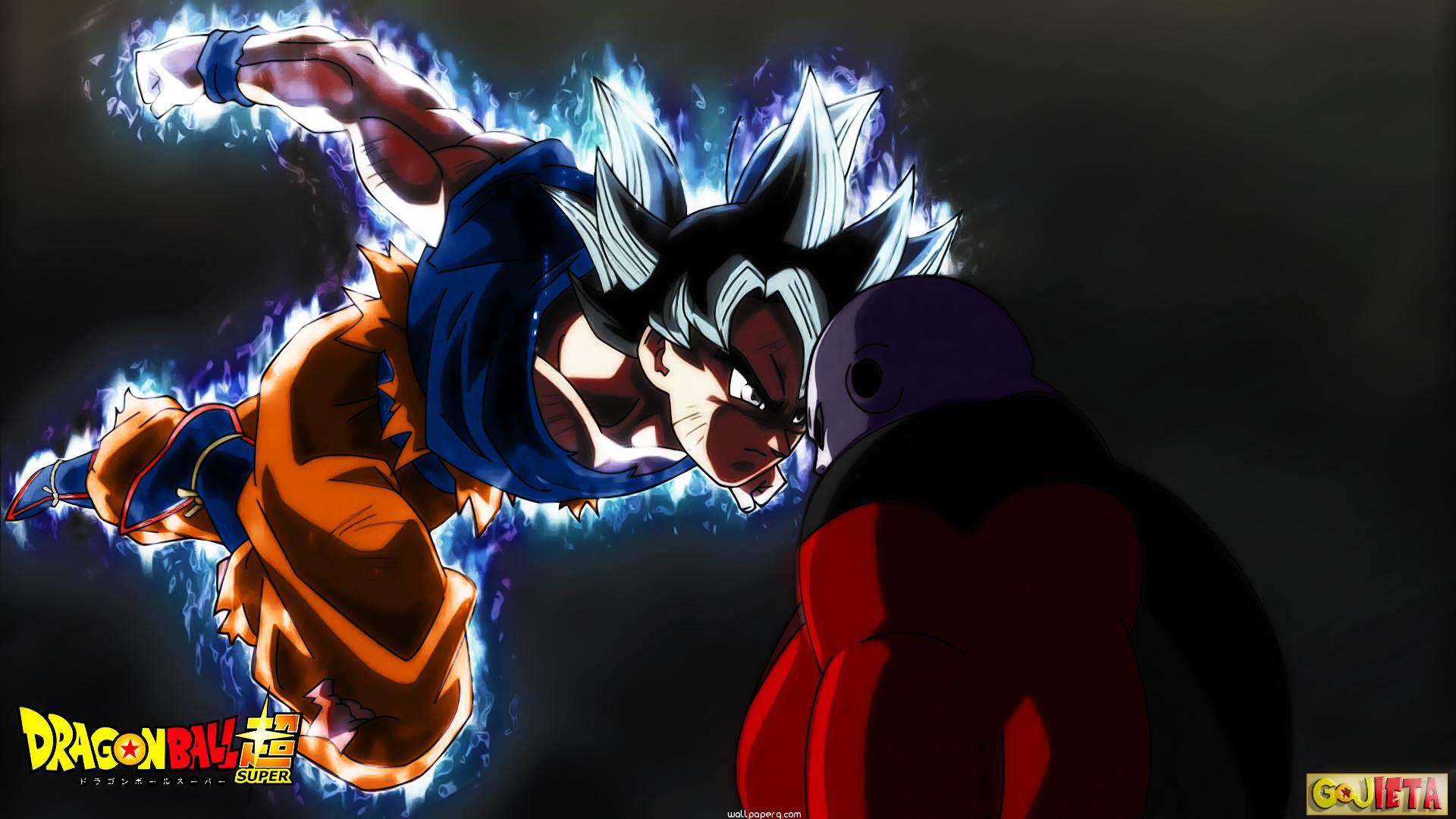 "Download ""Dragon ball super goku ultra instinct vs jiren"" wallpaper for mobile cell phone."