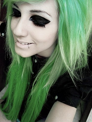 Download Girl With Green Hairs Flirty Girl With Attitude