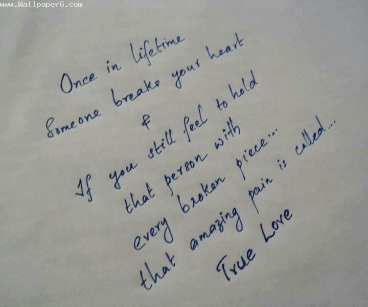 Download True love and friendship - Heart touching love quote for your mobile cell phone