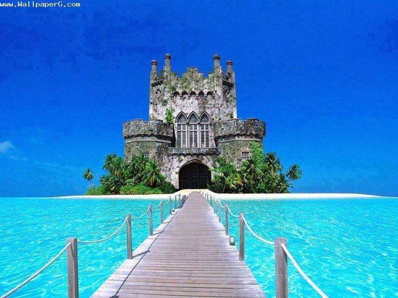 Download Blue Awesome Scenic Beauty 3d Hd Nature