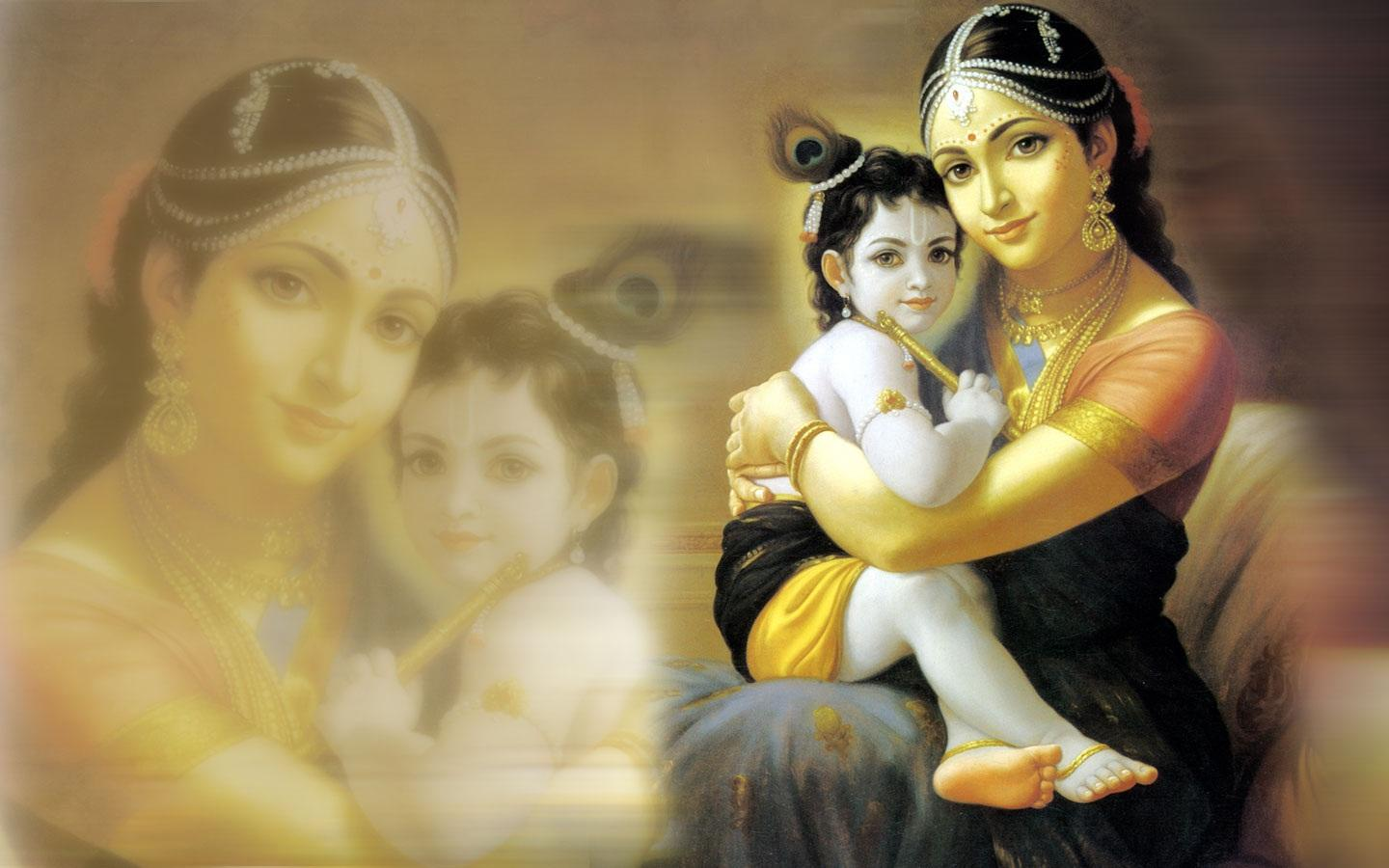 Download Krishna with yashoda - Janmashtami wallpapers for