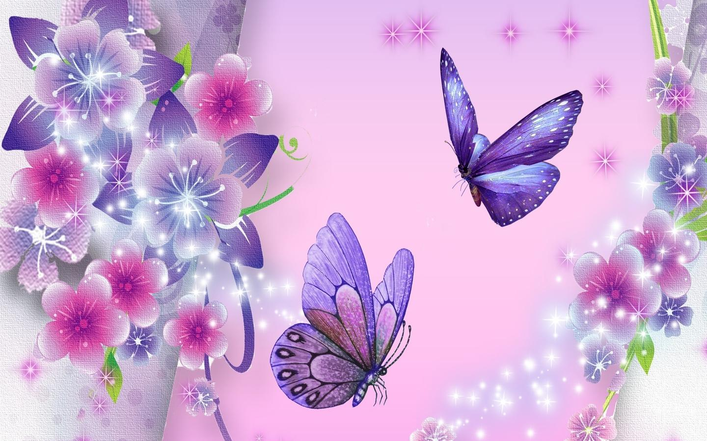 Download Beautiful Purple Butterfly Butterfly Wallpapers For Your