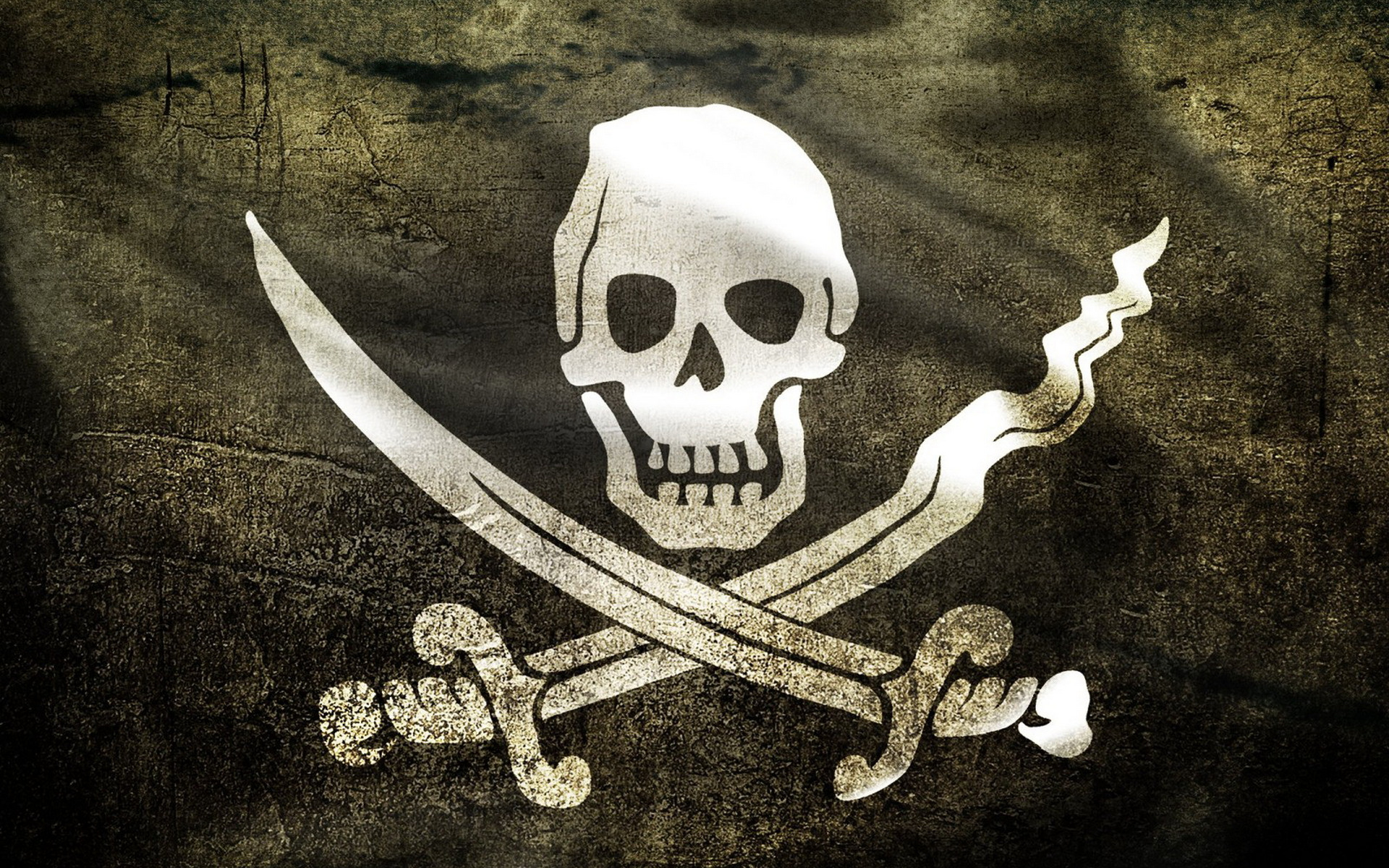 """Download """"Welcome to the pirate land"""" wallpaper for mobile cell phone."""