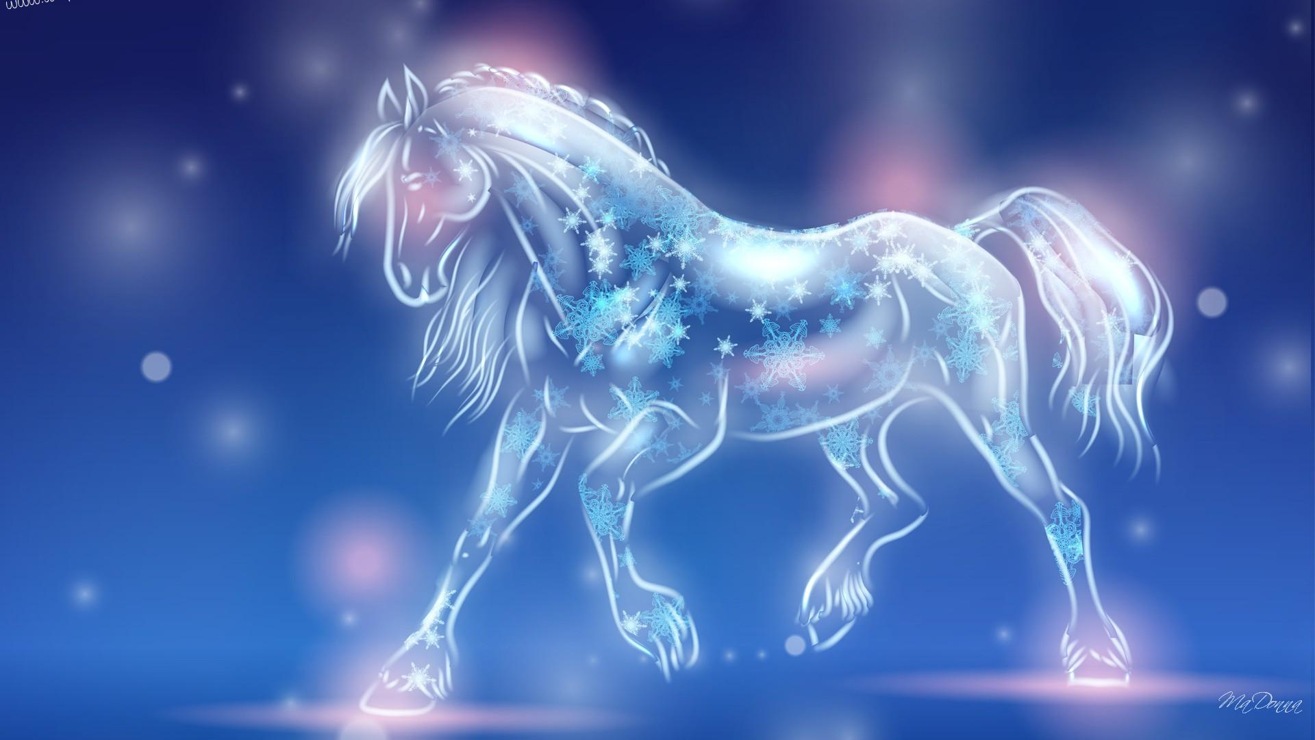 Download Horse Of Light 3d Hd Nature Wallpapers For Your Mobile Cell Phone