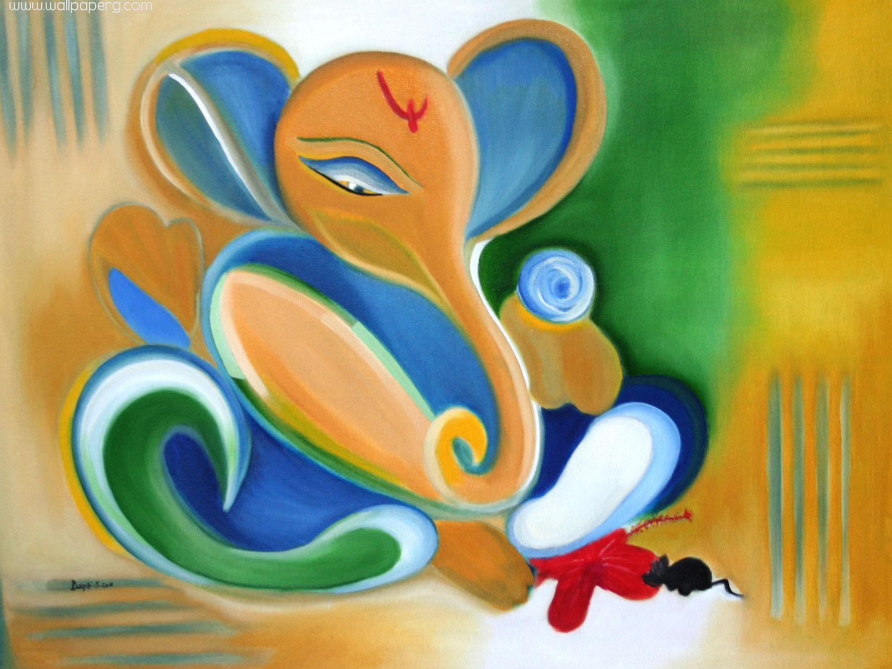 Download Beautiful Ganesha Painting